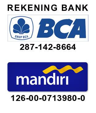 Rekening BCA dan MANDIRI